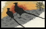 [Silhouette of pheasants]